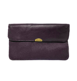 Flat Wallet-dark purple