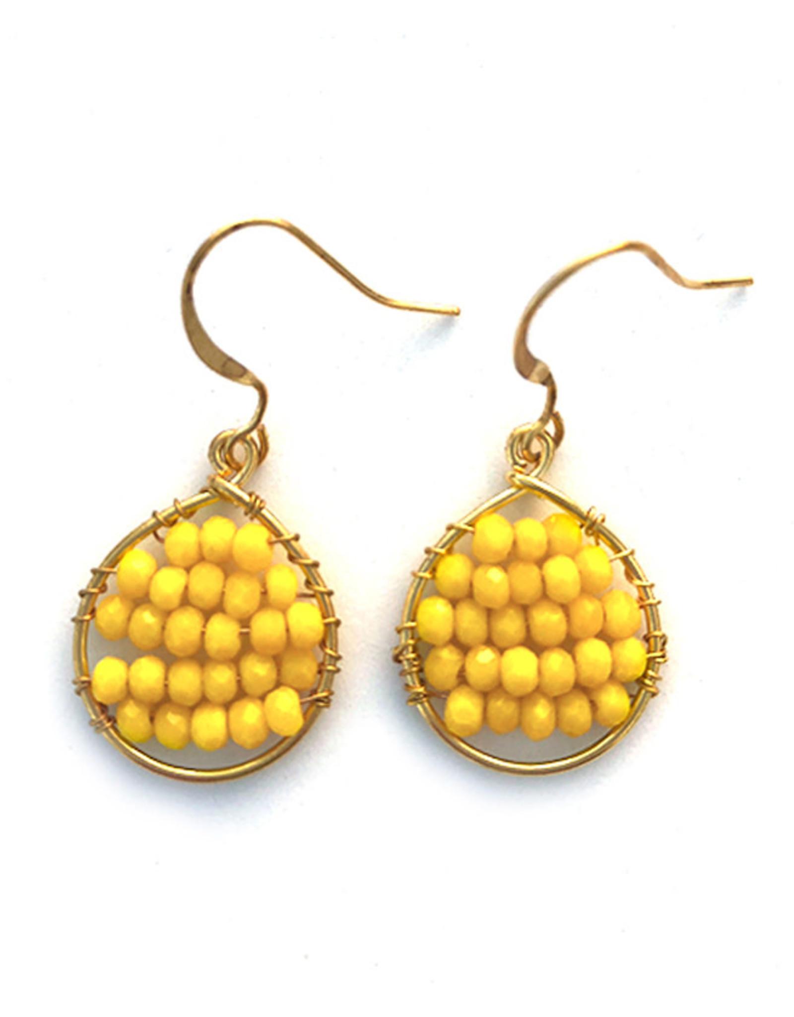 Hinth Oorbellen Lek goldframe-warm yellow