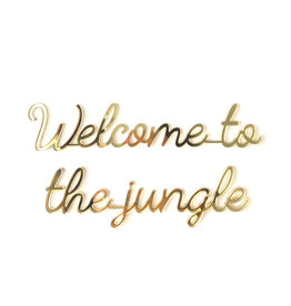 Goegezegd Quote Welcome to the jungle-gold