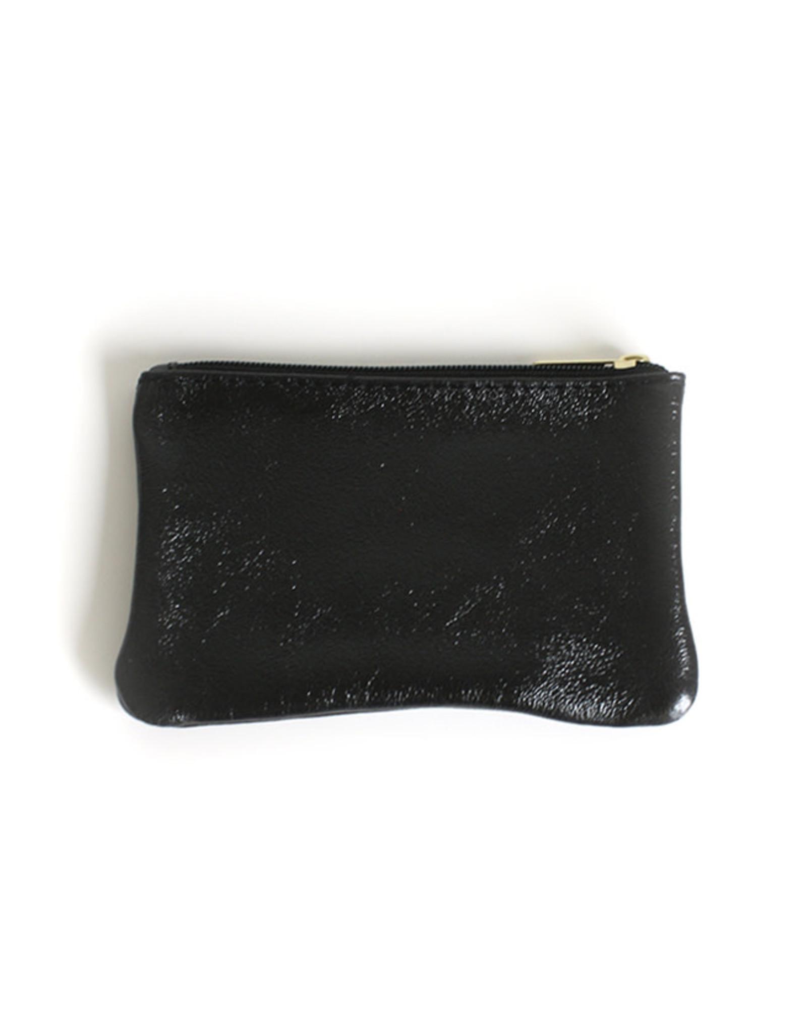 Glitter Wallet 10x16cm-black