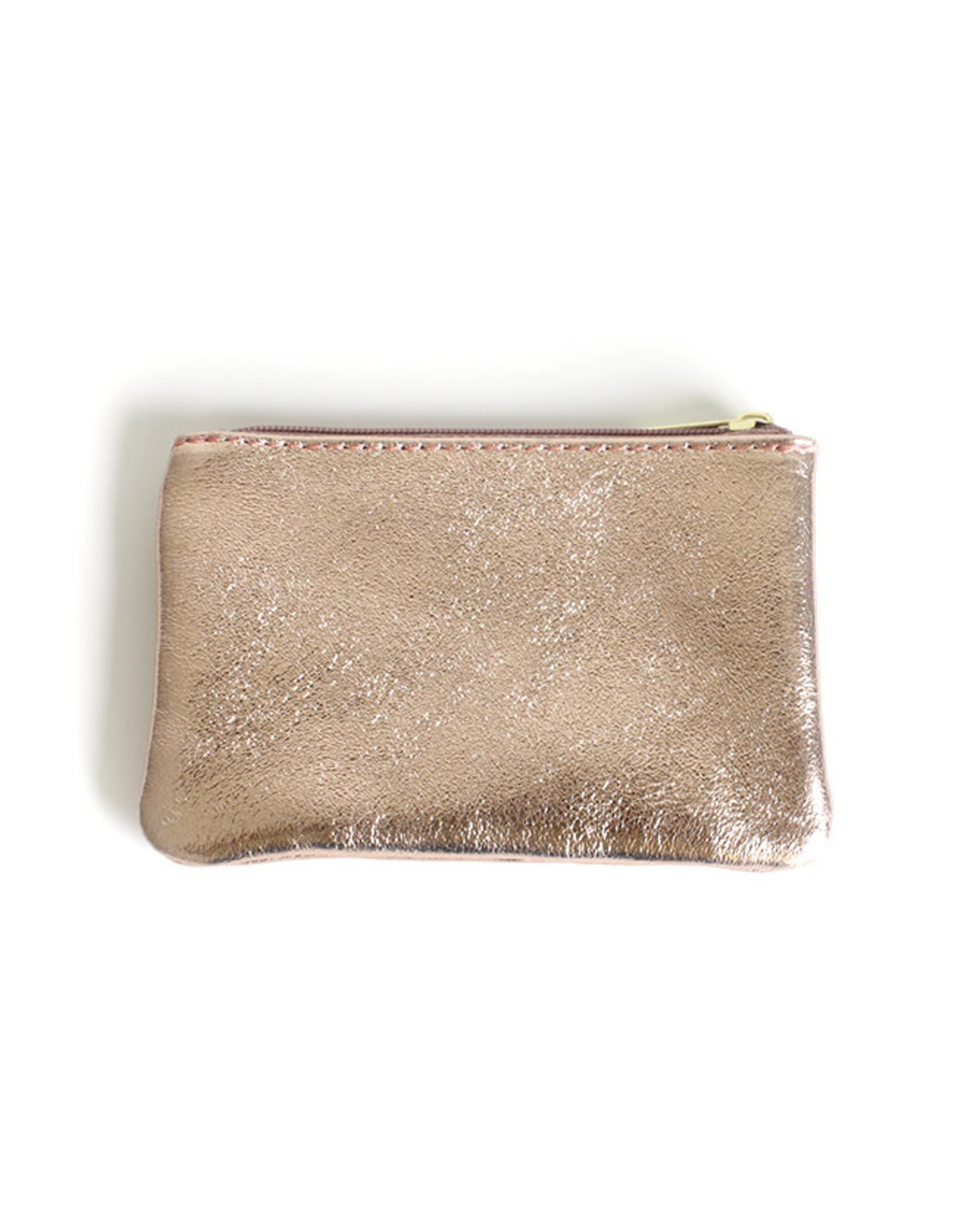 Glitter Wallet 10x16cm-roze