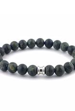 Steel & Barnett Men Bracelet Basic Stones-green serpentine