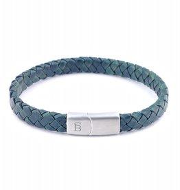 Steel & Barnett Men Bracelet Riley Leather-dark green