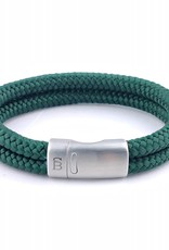Steel & Barnett Men Bracelet Lake Rope-dark green
