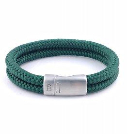 Steel & Barnett Men Bracelet Lake Rope-dark green