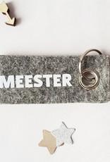 Miek in vorm Sleutelhanger Meester-grijs vilt