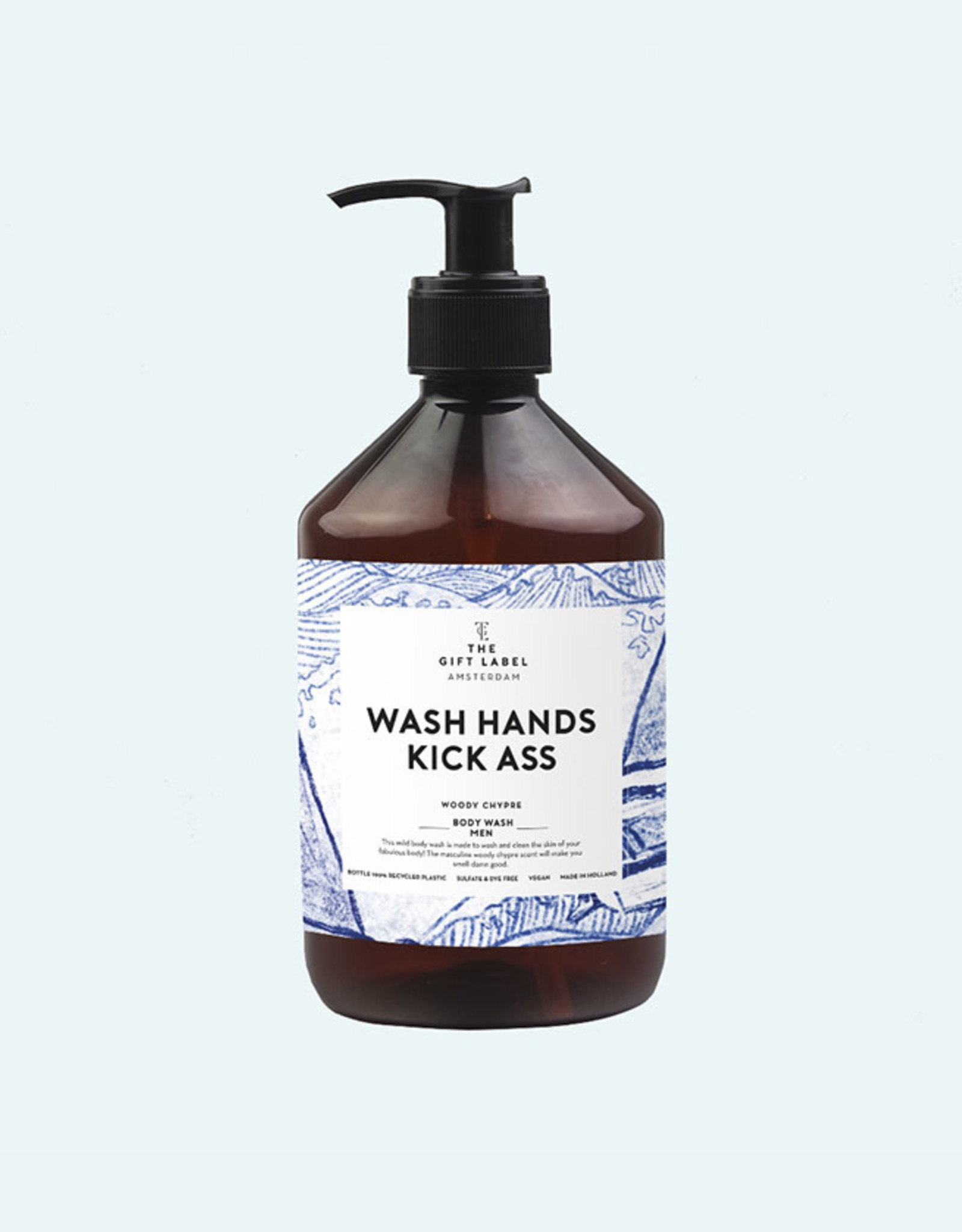 The Gift Label Body Wash Men-Wash hands Kick ass