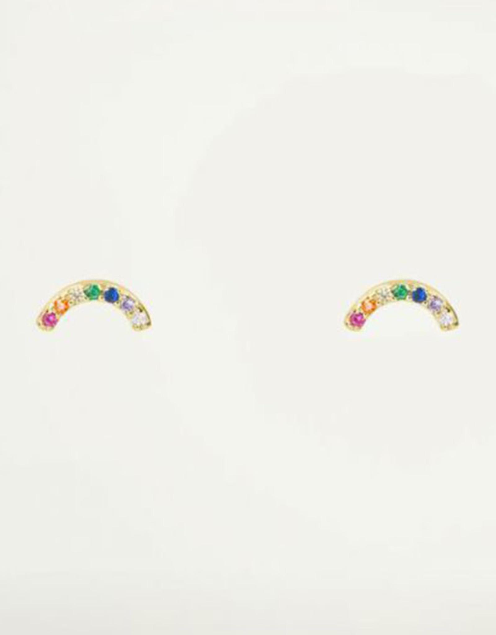 My Jewelry Oorbellen Studs Rainbow strass-gold