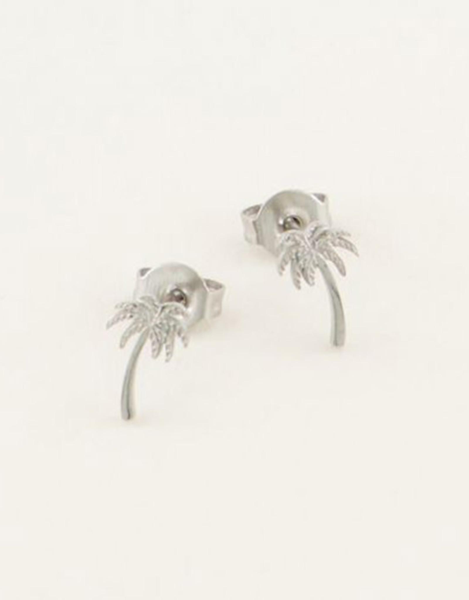 My Jewelry Oorbellen Studs Palmtree-silver