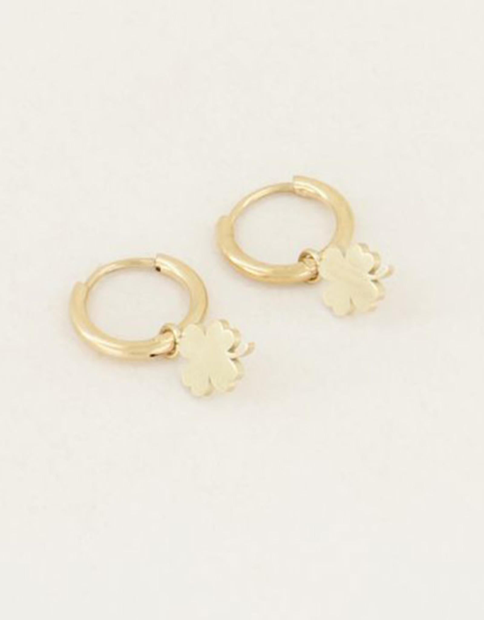 My Jewelry Oorbellen Creole Clover-gold