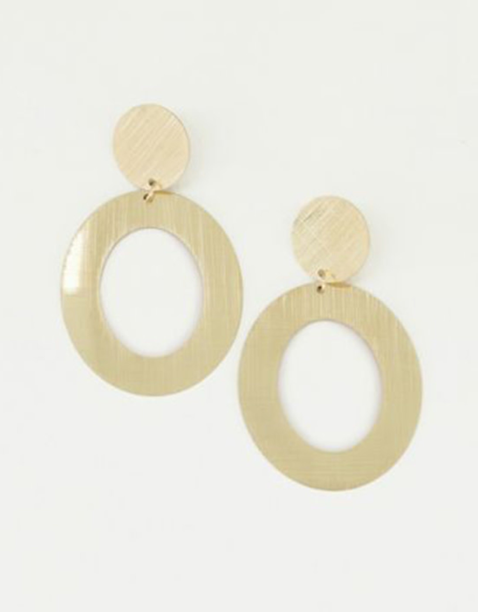 My Jewelry Oorbellen Open Oval-gold