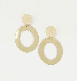 My Jewelry Oorbellen Open Oval-gold