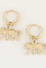 My Jewelry Oorbellen Creole Leopard-gold