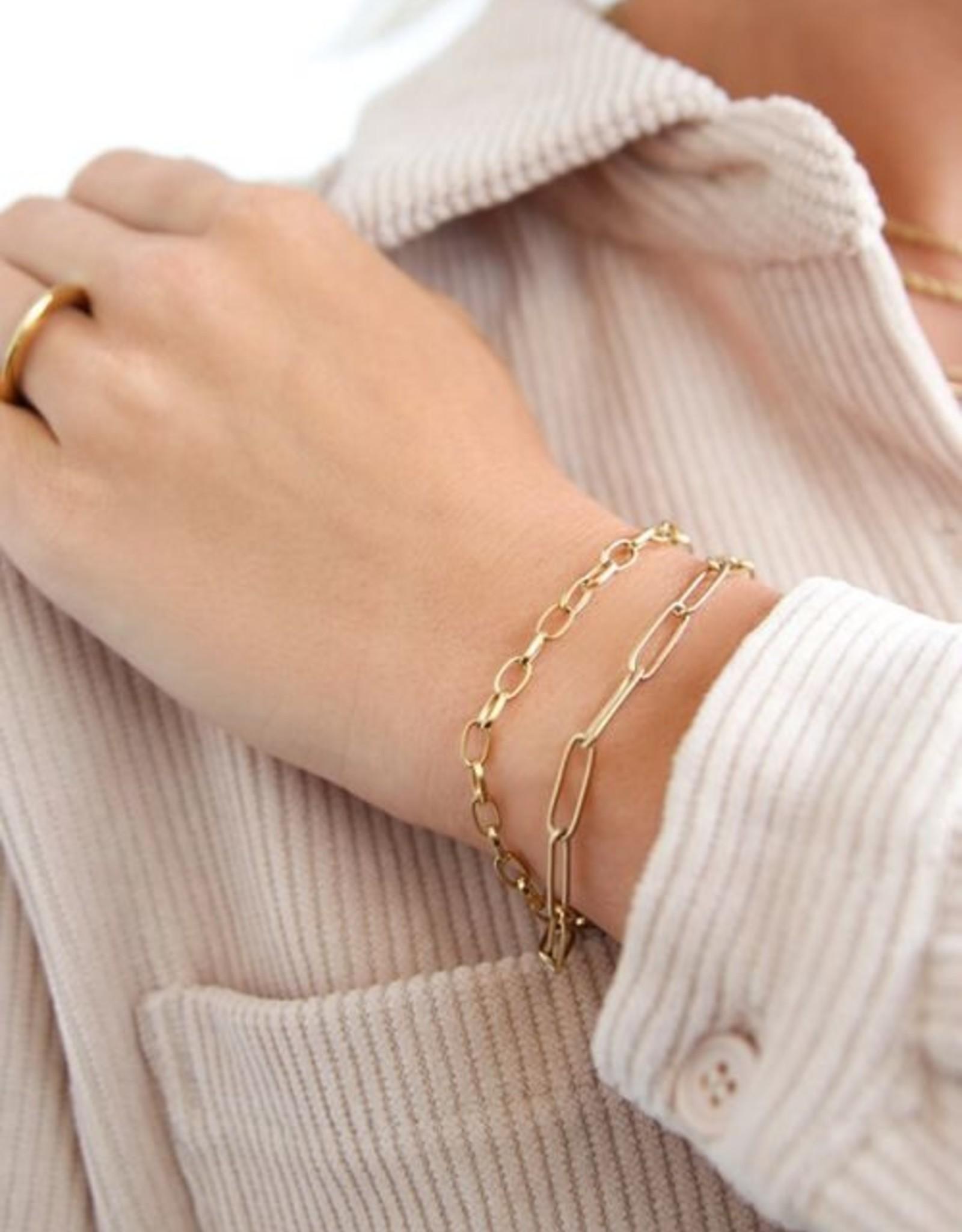 My Jewelry Armband Schakel fine-gold