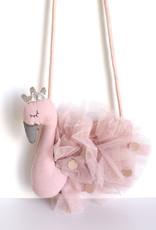 Handtasje Zwaan katoen-roze