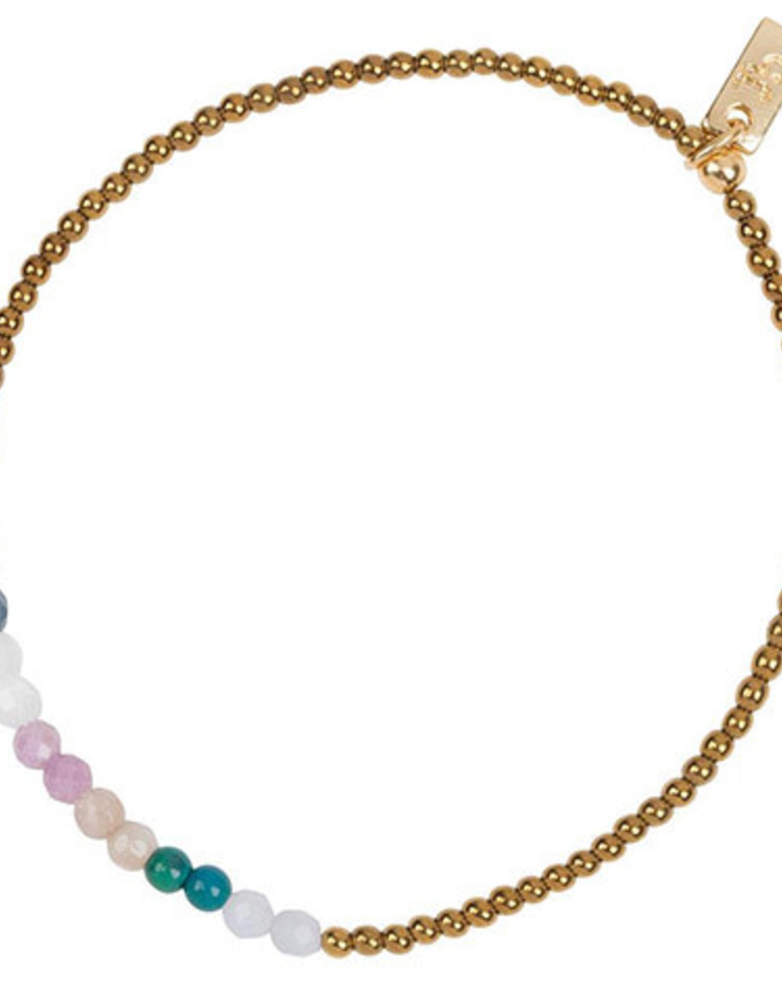 Jules Bean Armband Collectabean Doux-hematite/chrysocolla/chalcedon/pearl/sunstone/phosphosiderite