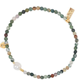 Jules Bean Armband Collectabean Noes-indian agate/barok pearl/heart