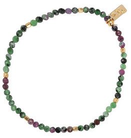 Jules Bean Armband Collectabean Ruby-zoisite/silver detail