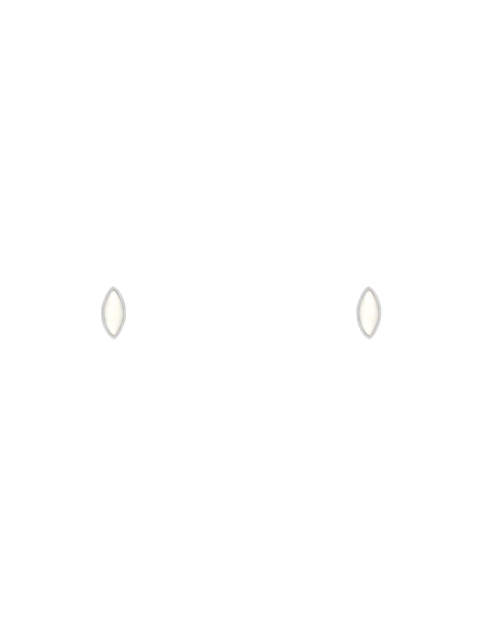 Flawed Ivory Eye Studs-silver