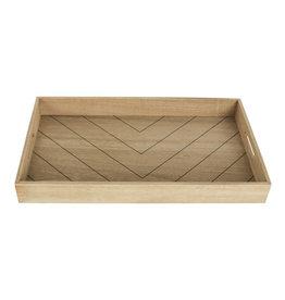 Dienblad Visgraat 50x30cm-wood