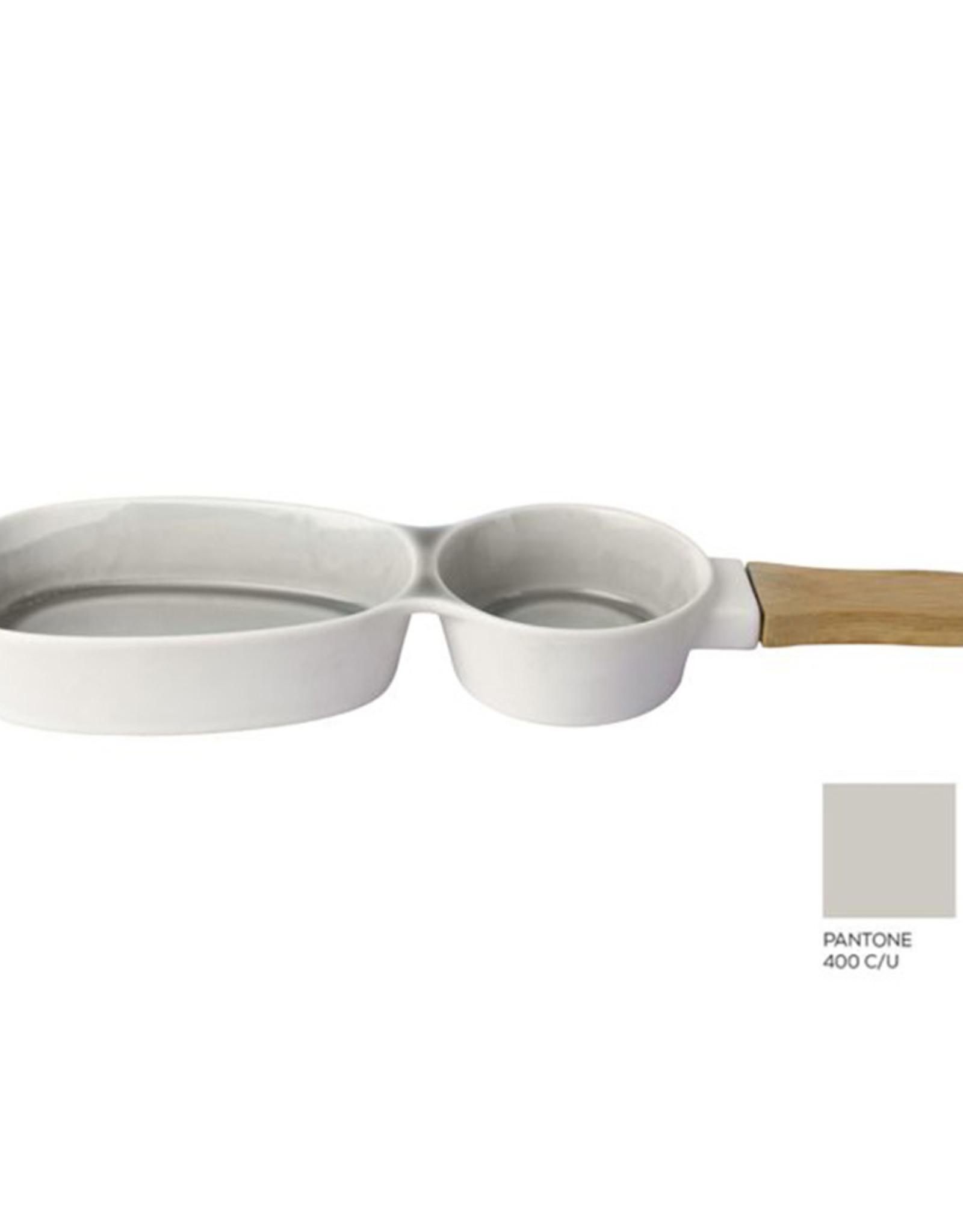 Serveerplateau Duo 36x10cm-grey ceramic/wood