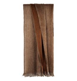 Bufandy Alpaca sjaal Doble-rusty brown