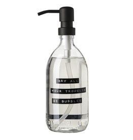 Wellmark Handzeep helder glas /zwarte pomp 500ml-may all your troubles be bubbles