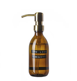 Wellmark Handzeep bruin glas /messing pomp 250ml-you look Awesome
