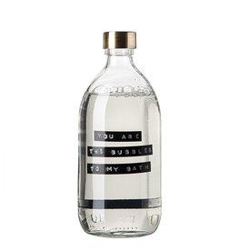 Wellmark Badzeep helder glas /messing pomp 500ml-you are the bubbles to my bath