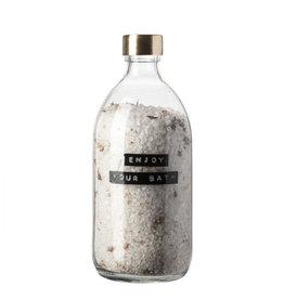 Wellmark Badzout helder glas /messing kamille 500ml-enjoy your bath