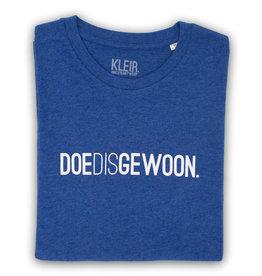 Kleir T-Shirt Biokatoen DOEDISGEWOON-indigo
