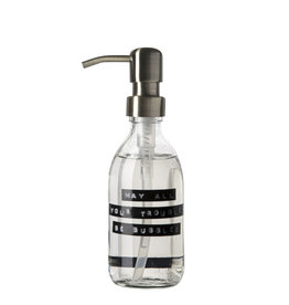 Wellmark Handzeep helder glas /messing pomp 250ml-may all your troubles be bubbles