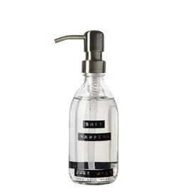 Wellmark Handzeep helder glas /messing pomp 250ml-shit happens just wash