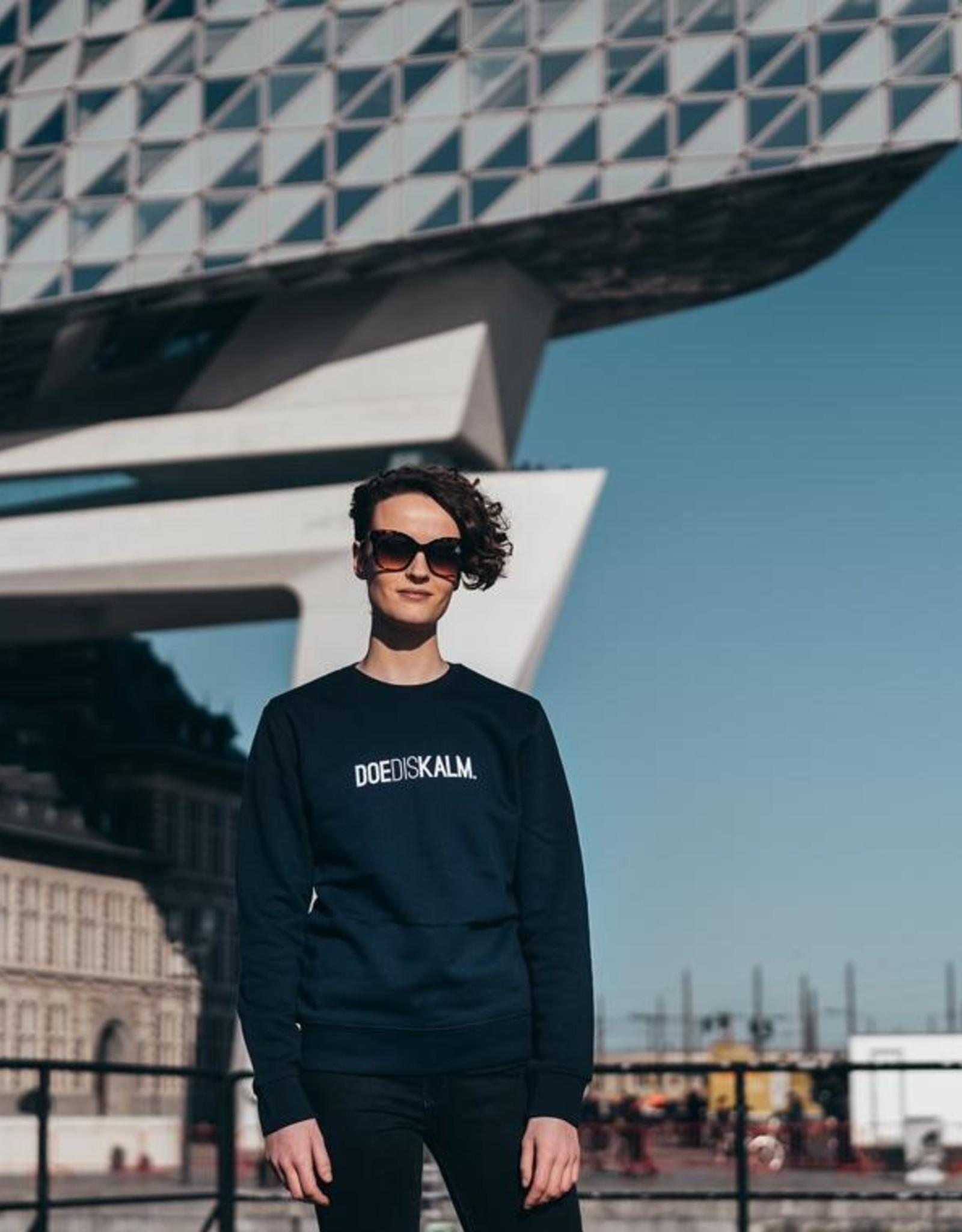 Kleir Sweater Biokatoen DOEDISKALM-blauw