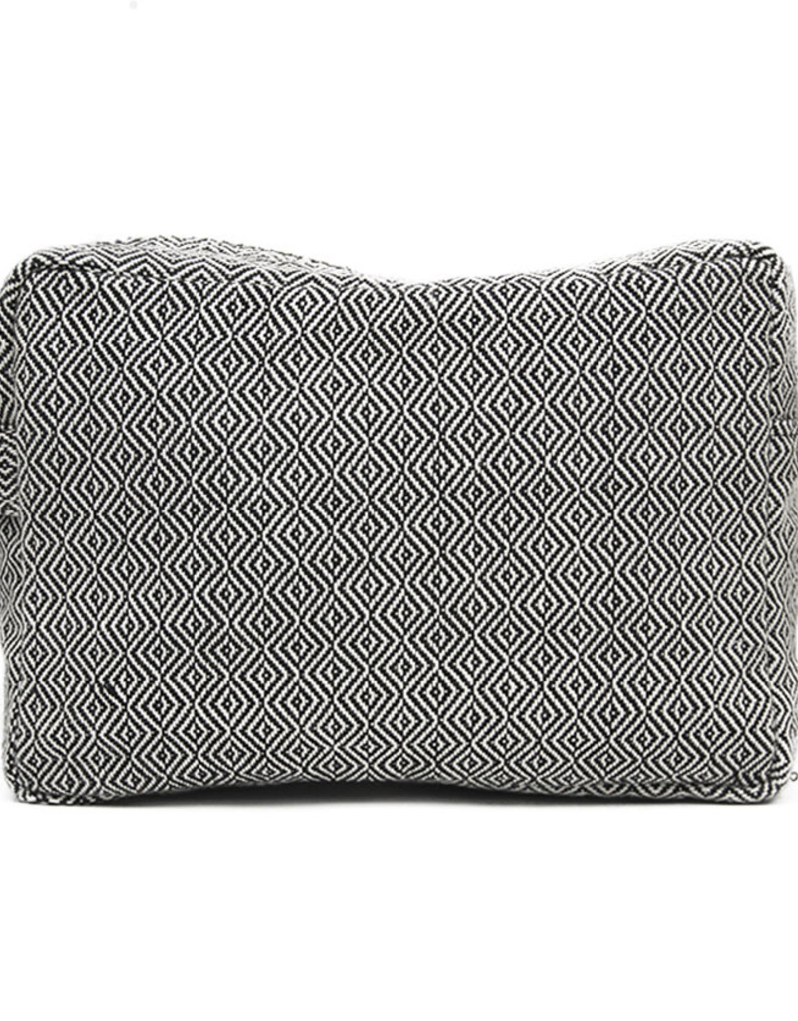 Anna Nera Toilettas Facet L 26x17cm-black&white