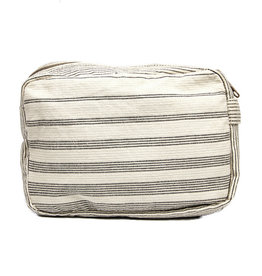 Anna Nera Toilettas Shades L 26x17cm-black stripes