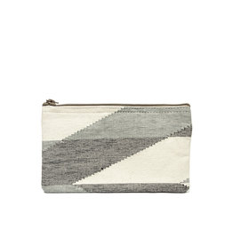 Anna Nera Wallet Dhaka M 20x12cm-black&grey