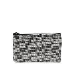 Anna Nera Wallet Facet M 20x12cm-black&white
