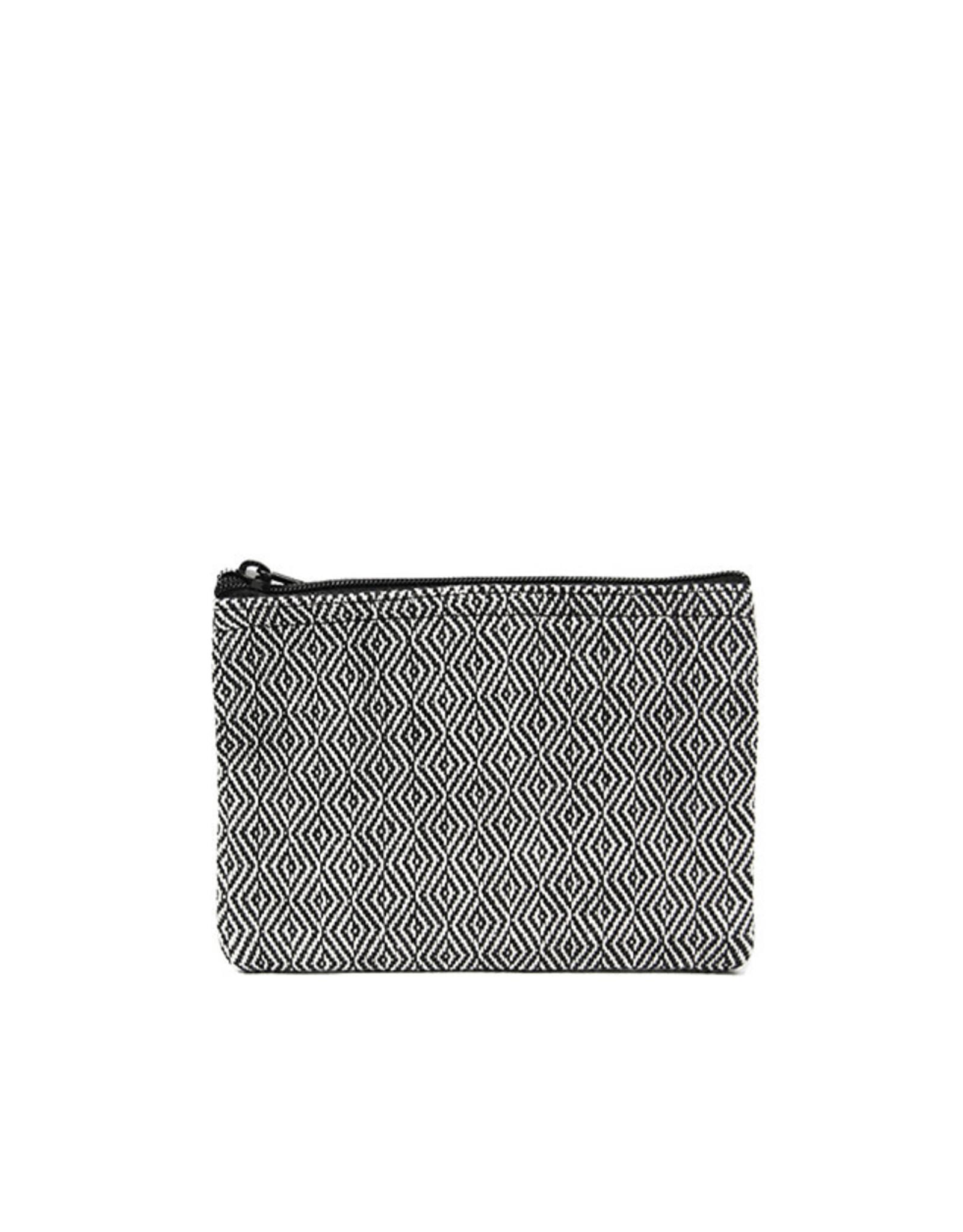 Anna Nera Wallet Facet S 15x12cm-black&white