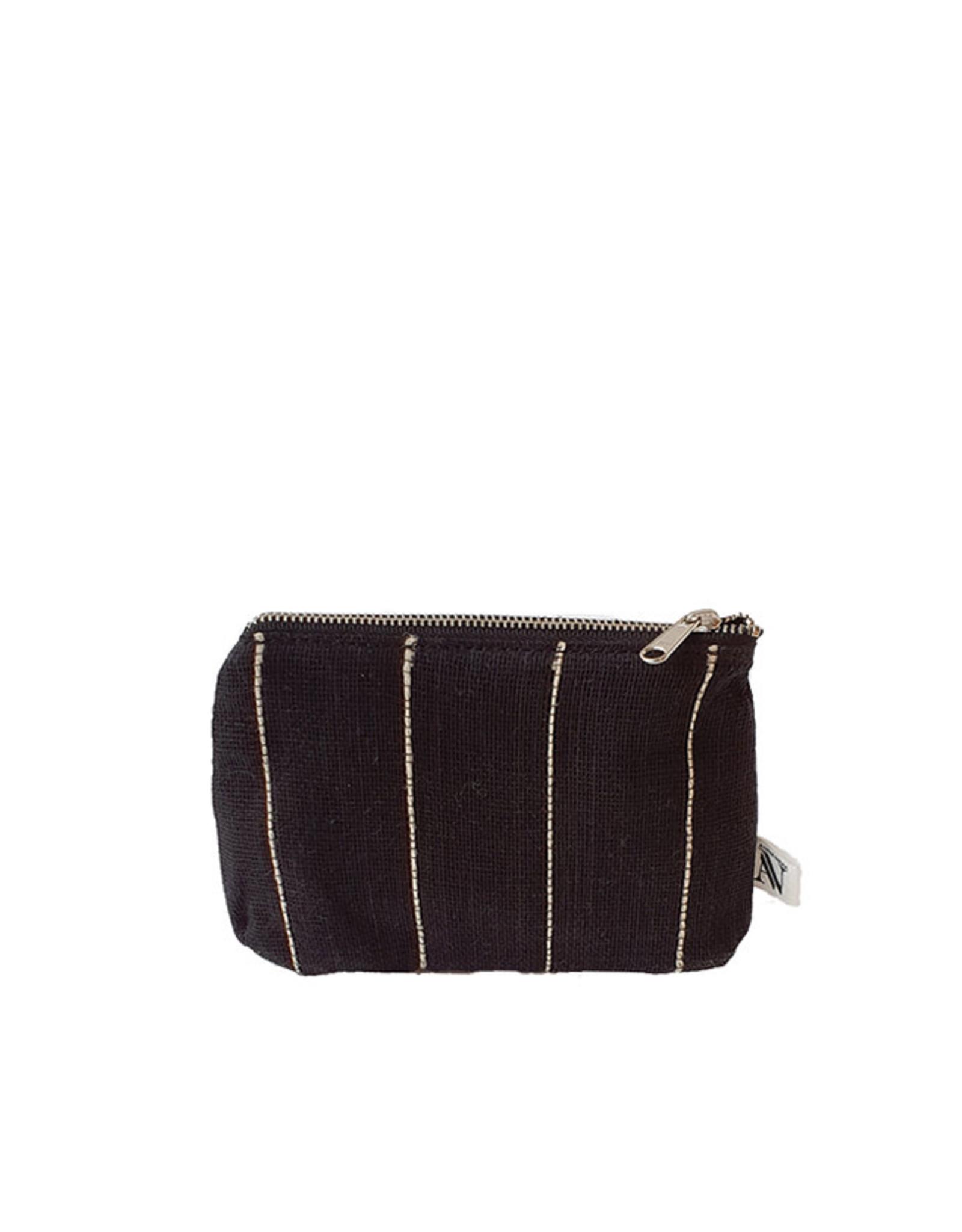 Anna Nera Wallet Jute S 15x12cm-black