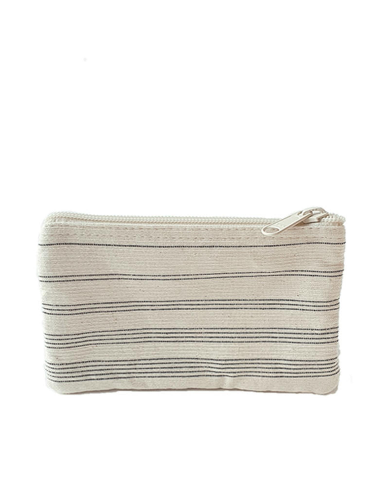Anna Nera Wallet Shades M 20x12cm-black stripes