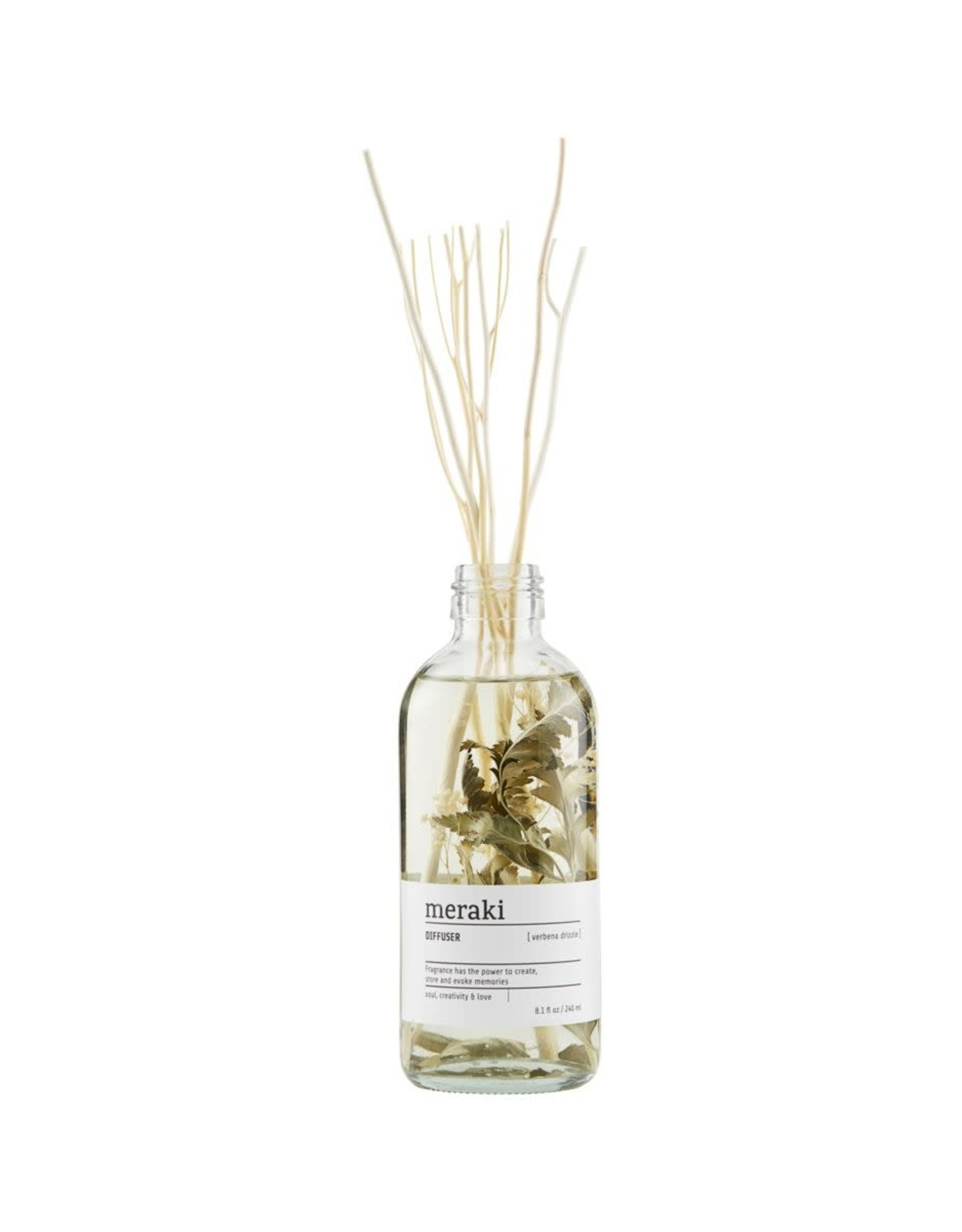 Meraki Diffuser Glass Flowers-verbena drizzle