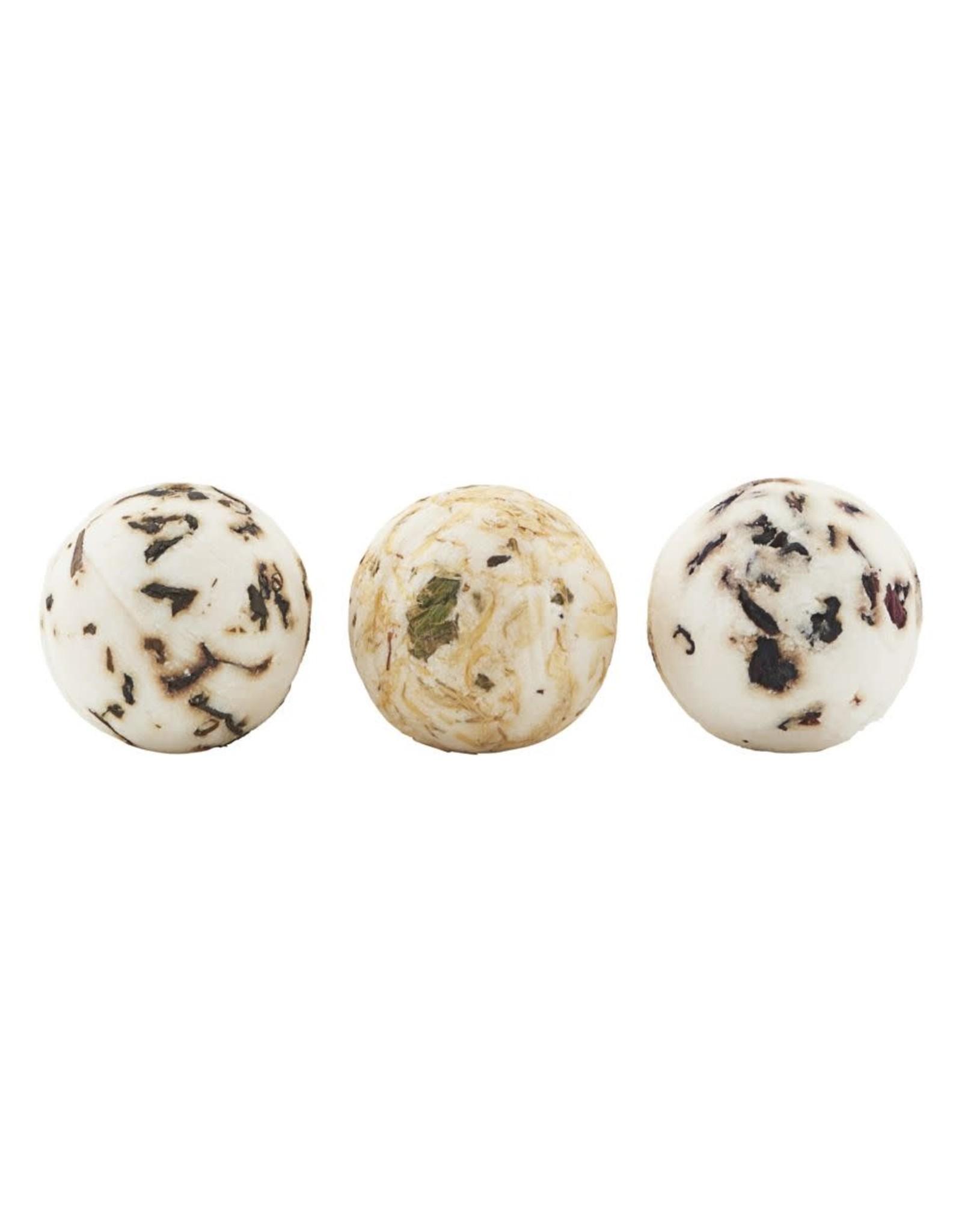 Meraki Soap Box bruisballen 3pcs. natural-green tea/pomegranate/chamomile