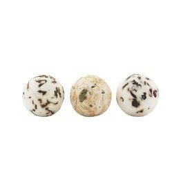 Meraki Soap Box badballen 3pcs. natural-green tea/pomegranate/chamomile