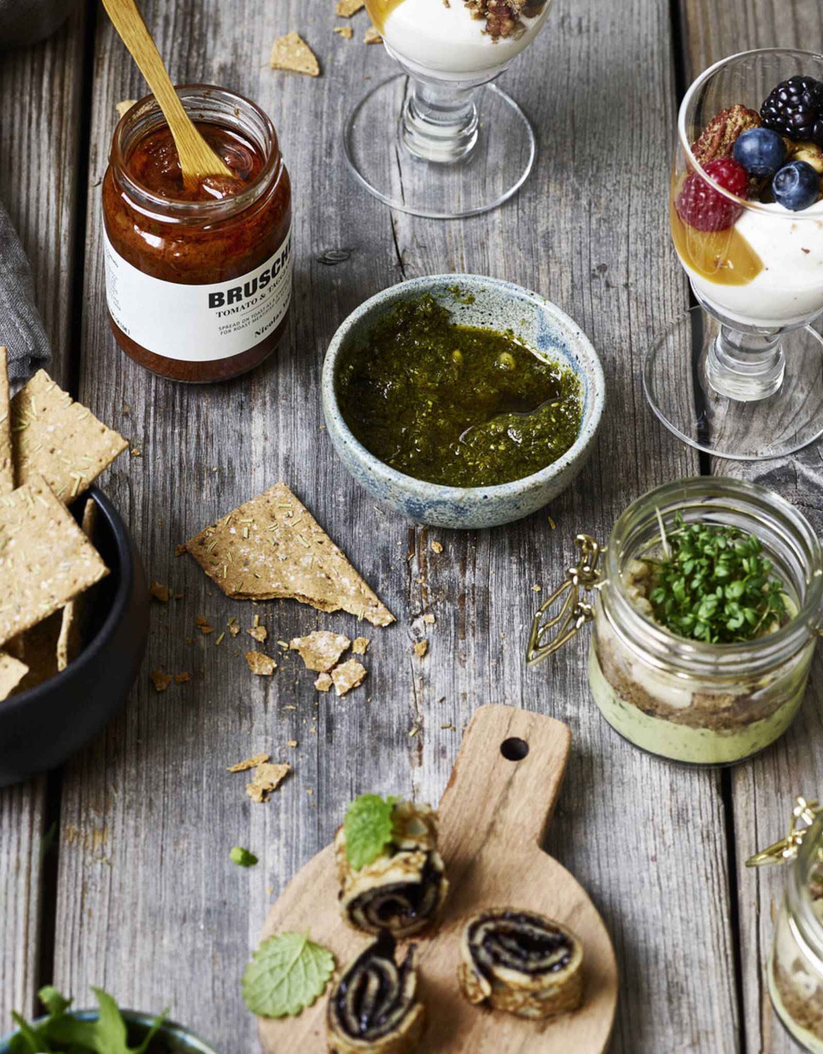 Nicolas Vahé Bruschetta Dip-tomato & taggiasca olive