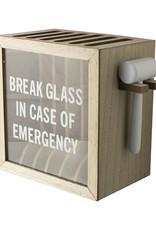 Telefoon kluis-wood/glass