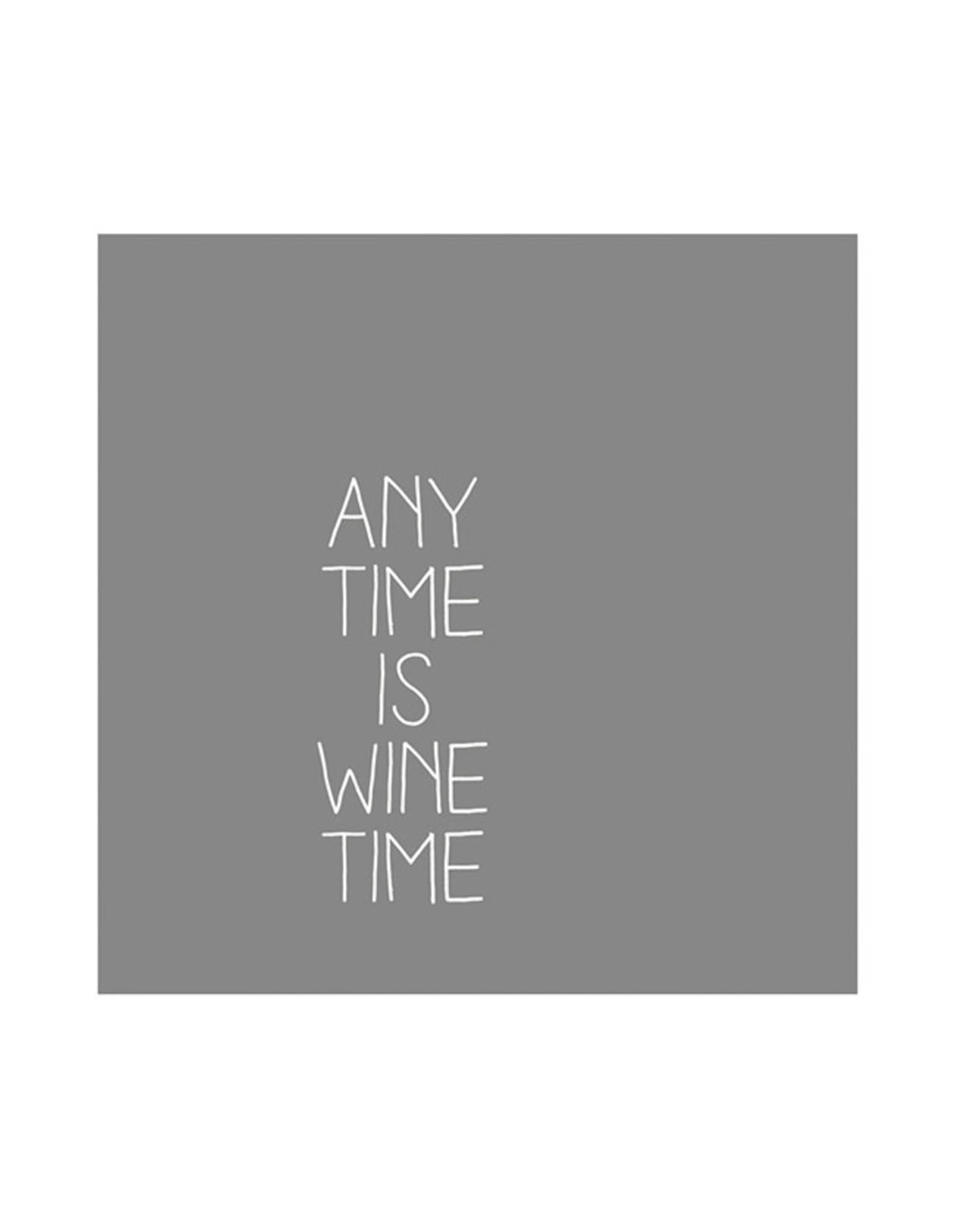 Räder Servet 25x25cm-Anytime is wine time