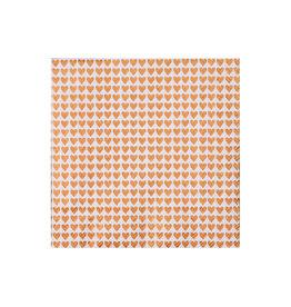 Räder Servet 25x25cm-Little hearts gold