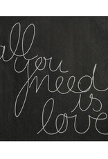 Räder Servet 33x33cm-All you need is love