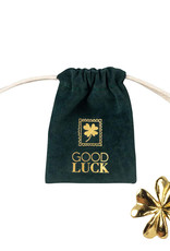 Räder Gelukzakje Velvet green-good luck gold